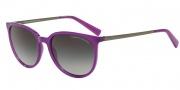 Armani Exchange AX4048S Sunglasses Sunglasses - 81718G Purple Magic Milky / Grey Gradient