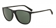 Armani Exchange AX4047SF Sunglasses Sunglasses - 807871 Matte Black / Grey Green