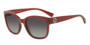 Armani Exchange AX4046S Sunglasses Sunglasses - 81738G Ruby Red Milky / Grey Gradient