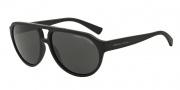 Armani Exchange AX4042S Sunglasses Sunglasses - 807887 Matte Black / Grey