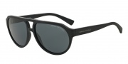 Armani Exchange AX4042S Sunglasses Sunglasses - 815787 Matte Blue / Grey