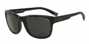 Armani Exchange AX4036F Sunglasses Sunglasses - 184087 Black/dk Grey Trans / Grey Solid