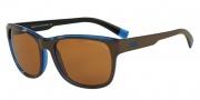 Armani Exchange AX4036F Sunglasses Sunglasses - 814473 Brown/Blue Trans / Amber Solid