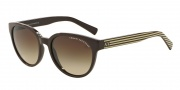 Armani Exchange AX4034 Sunglasses Sunglasses - 814913 Brown /Brown Cream Stripe / Smoke Brown Gradient