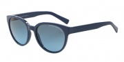 Armani Exchange AX4034 Sunglasses Sunglasses - 815217 Blue/Blue Light Blue Stripe / Grey Blue Grdient