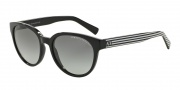 Armani Exchange AX4034 Sunglasses Sunglasses - 815311 Black / Black White Stripe / Grey Gradient
