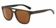 Armani Exchange AX4032 Sunglasses Sunglasses - 814473 Brown / Amber Solid