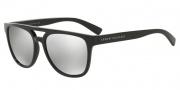 Armani Exchange AX4032F Sunglasses Sunglasses - 81586G Black / Light Grey Mirror Silver