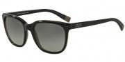 Armani Exchange AX4031 Sunglasses Sunglasses - 184011 Black/dk Grey Transparent / Grey Gradient