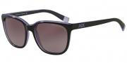 Armani Exchange AX4031 Sunglasses Sunglasses - 81458H Black /Violet Trans / Purple Gradient