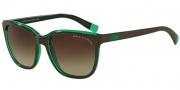 Armani Exchange AX4031 Sunglasses Sunglasses - 814613 Brown/Bright Spearmint Trans / Smoke Brown Gradient