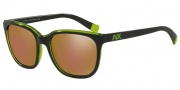 Armani Exchange AX4031 Sunglasses Sunglasses - 815473 dk Purple/Green Transparent / Gold Mirror