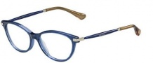 Jimmy Choo 153 Eyeglasses Eyeglasses - 0QC6 Blue Glitter