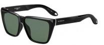 Givenchy 7002/S Sunglasses Sunglasses - 0D28 Shiny Black (85 Gray Green Lens