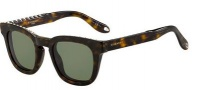 Givenchy 7006/S Sunglasses Sunglasses - 0086 Dark Havana (1E green lens)