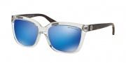 Michael Kors MK6016 Sunglasses Sunglasses - 305025 Clear Tortoise / Blue Mirror