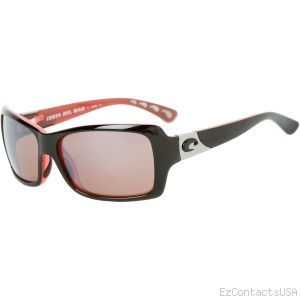 Costa Del Mar Islamorada Sunglasses - Black + Coral Frame - Costa Del Mar