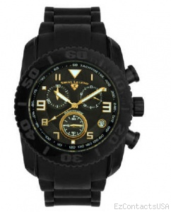 Swiss Legend Commander Rubber Black IP Watch 20065 - Swiss Legend