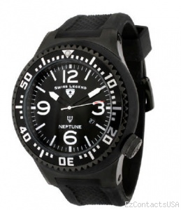 Swiss Legend Neptune Pilot Black IP Watch 21818 - Swiss Legend