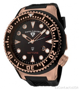 Swiss Legend Neptune Diver Rose IP Watch 21818 - Swiss Legend