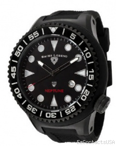Swiss Legend Neptune Diver Black IP 21818 - Swiss Legend