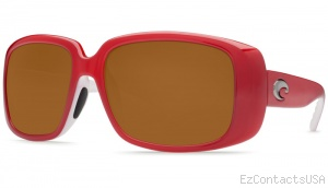 Costa Del Mar Little Harbor Sunglasses Coral White Frame - Costa Del Mar