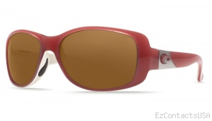 Costa Del Mar Tippet Sunglasses Coral White Frame - Costa Del Mar