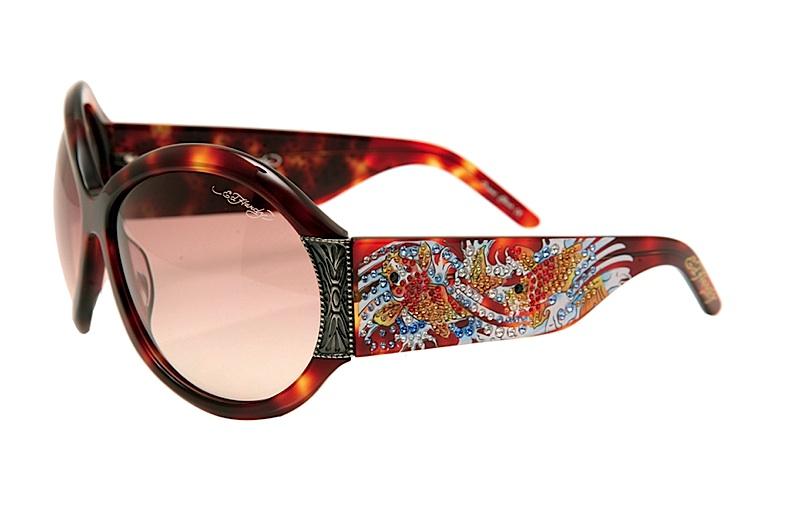0884042529fd Ed Hardy EHS 002 Koi Fish Sunglasses