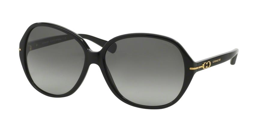 COACH HC 8118F 500211 60-14-135 Sonnenbrille, Schwarz